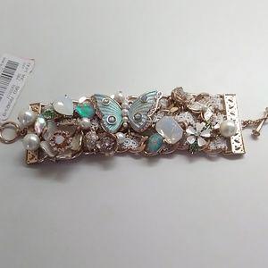 Betsey Johnson New White Butterfly Bracelet